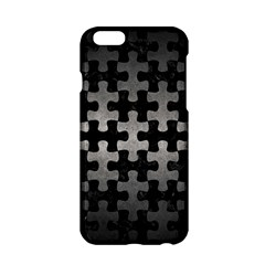 Puzzle1 Black Marble & Gray Metal 1 Apple Iphone 6/6s Hardshell Case