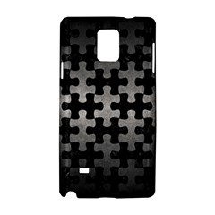 Puzzle1 Black Marble & Gray Metal 1 Samsung Galaxy Note 4 Hardshell Case
