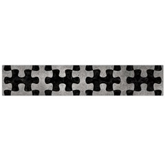 Puzzle1 Black Marble & Gray Metal 1 Flano Scarf (large)
