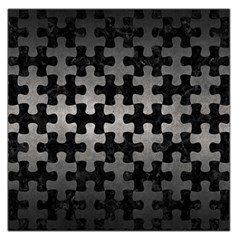Puzzle1 Black Marble & Gray Metal 1 Large Satin Scarf (square)