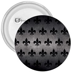 Royal1 Black Marble & Gray Metal 1 3  Buttons