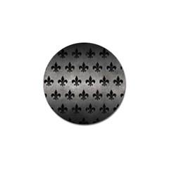 Royal1 Black Marble & Gray Metal 1 Golf Ball Marker (4 Pack)
