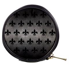 Royal1 Black Marble & Gray Metal 1 Mini Makeup Bags