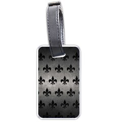 Royal1 Black Marble & Gray Metal 1 Luggage Tags (one Side)