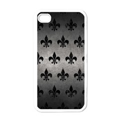 Royal1 Black Marble & Gray Metal 1 Apple Iphone 4 Case (white)
