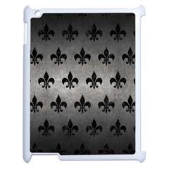 Royal1 Black Marble & Gray Metal 1 Apple Ipad 2 Case (white)