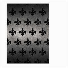 Royal1 Black Marble & Gray Metal 1 Large Garden Flag (two Sides)