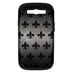 Royal1 Black Marble & Gray Metal 1 Samsung Galaxy S Iii Hardshell Case (pc+silicone)