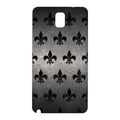 Royal1 Black Marble & Gray Metal 1 Samsung Galaxy Note 3 N9005 Hardshell Back Case