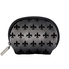 Royal1 Black Marble & Gray Metal 1 Accessory Pouches (small)