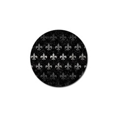 Royal1 Black Marble & Gray Metal 1 (r) Golf Ball Marker (10 Pack)