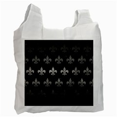 Royal1 Black Marble & Gray Metal 1 (r) Recycle Bag (two Side)