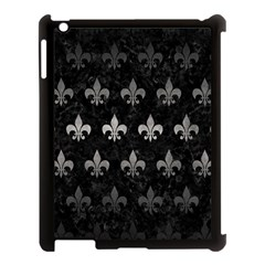 Royal1 Black Marble & Gray Metal 1 (r) Apple Ipad 3/4 Case (black)