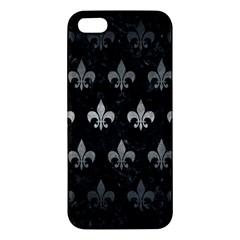 Royal1 Black Marble & Gray Metal 1 (r) Iphone 5s/ Se Premium Hardshell Case