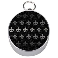 Royal1 Black Marble & Gray Metal 1 (r) Silver Compasses