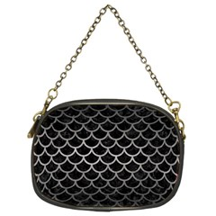 Scales1 Black Marble & Gray Metal 1 Chain Purses (two Sides)