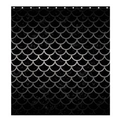 Scales1 Black Marble & Gray Metal 1 Shower Curtain 66  X 72  (large)