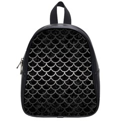 Scales1 Black Marble & Gray Metal 1 School Bag (small)