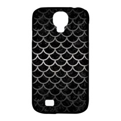 Scales1 Black Marble & Gray Metal 1 Samsung Galaxy S4 Classic Hardshell Case (pc+silicone)