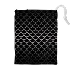 Scales1 Black Marble & Gray Metal 1 Drawstring Pouches (extra Large)