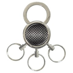 Scales1 Black Marble & Gray Metal 1 (r) 3 Ring Key Chains