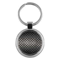 Scales1 Black Marble & Gray Metal 1 (r) Key Chains (round)