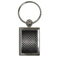 Scales1 Black Marble & Gray Metal 1 (r) Key Chains (rectangle)