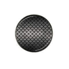 Scales1 Black Marble & Gray Metal 1 (r) Hat Clip Ball Marker (10 Pack)