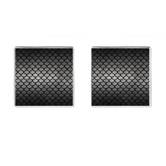 Scales1 Black Marble & Gray Metal 1 (r) Cufflinks (square)