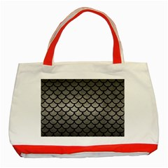 Scales1 Black Marble & Gray Metal 1 (r) Classic Tote Bag (red)