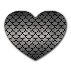 Scales1 Black Marble & Gray Metal 1 (r) Heart Mousepads