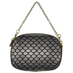 Scales1 Black Marble & Gray Metal 1 (r) Chain Purses (two Sides)