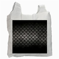 Scales1 Black Marble & Gray Metal 1 (r) Recycle Bag (two Side)