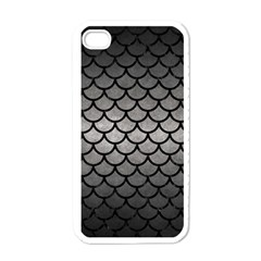 Scales1 Black Marble & Gray Metal 1 (r) Apple Iphone 4 Case (white)
