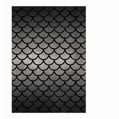 Scales1 Black Marble & Gray Metal 1 (r) Small Garden Flag (two Sides)