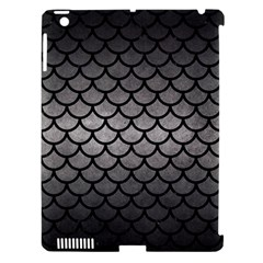 Scales1 Black Marble & Gray Metal 1 (r) Apple Ipad 3/4 Hardshell Case (compatible With Smart Cover)