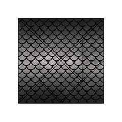 Scales1 Black Marble & Gray Metal 1 (r) Acrylic Tangram Puzzle (4  X 4 )