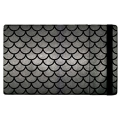 Scales1 Black Marble & Gray Metal 1 (r) Apple Ipad 2 Flip Case