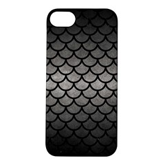 Scales1 Black Marble & Gray Metal 1 (r) Apple Iphone 5s/ Se Hardshell Case