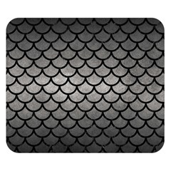 Scales1 Black Marble & Gray Metal 1 (r) Double Sided Flano Blanket (small)