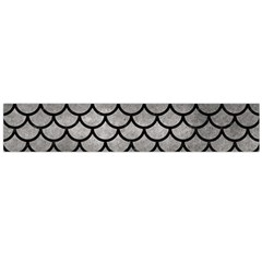 Scales1 Black Marble & Gray Metal 1 (r) Flano Scarf (large)