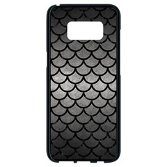 Scales1 Black Marble & Gray Metal 1 (r) Samsung Galaxy S8 Black Seamless Case