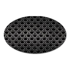 Scales2 Black Marble & Gray Metal 1 Oval Magnet
