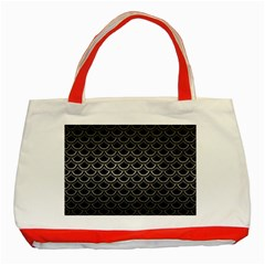 Scales2 Black Marble & Gray Metal 1 Classic Tote Bag (red)