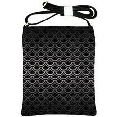 Scales2 Black Marble & Gray Metal 1 Shoulder Sling Bags