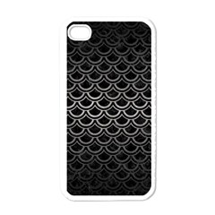 Scales2 Black Marble & Gray Metal 1 Apple Iphone 4 Case (white)