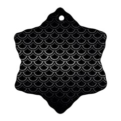 Scales2 Black Marble & Gray Metal 1 Snowflake Ornament (two Sides)