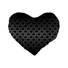 Scales2 Black Marble & Gray Metal 1 Standard 16  Premium Heart Shape Cushions