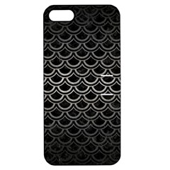 Scales2 Black Marble & Gray Metal 1 Apple Iphone 5 Hardshell Case With Stand