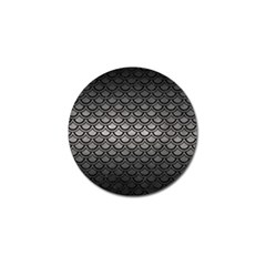 Scales2 Black Marble & Gray Metal 1 (r) Golf Ball Marker (4 Pack)